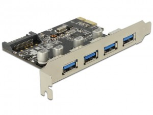 Delock Karta PCI Express -> USB 3.0 4-Port